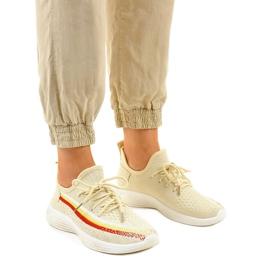 Beżowe obuwie sportowe HB-48 beżowy