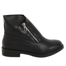 Botki damskie czarne 20195-1 Black