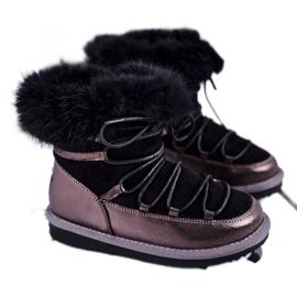 Dziecięce Botki Śniegowce Big Star Czarne GG374083