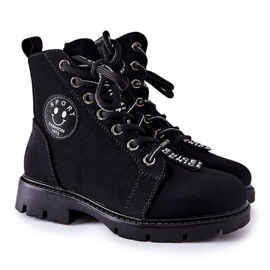 Vinceza Dziecięce Botki Workery Czarne Mini Aspen