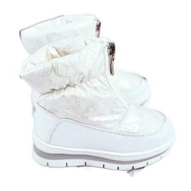 WEESTEP Dziecięce Śniegowce Ocieplane Wełną Białe Bubbles