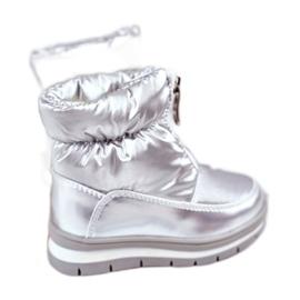 WEESTEP Dziecięce Śniegowce Ocieplane Wełną Srebrne Bubbles srebrny