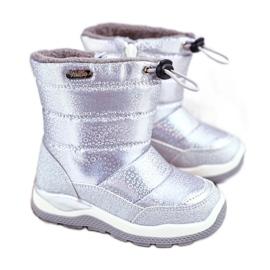 WEESTEP Dziecięce Śniegowce Ocieplane Wełną Srebrne Felini srebrny