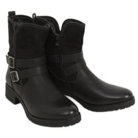 Botki damskie czarne 8912 Black