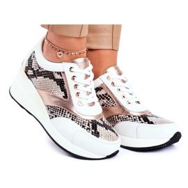GOE Sportowe Damskie Buty Sneakersy Skórzane Białe GG2N3045 wielokolorowe