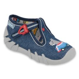 Befado obuwie dziecięce 110P390 czerwone niebieskie