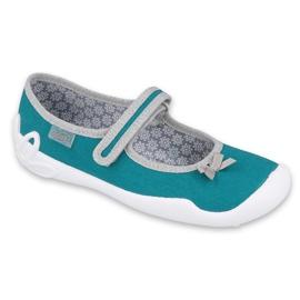 Befado obuwie dziecięce 114Y434 szare zielone