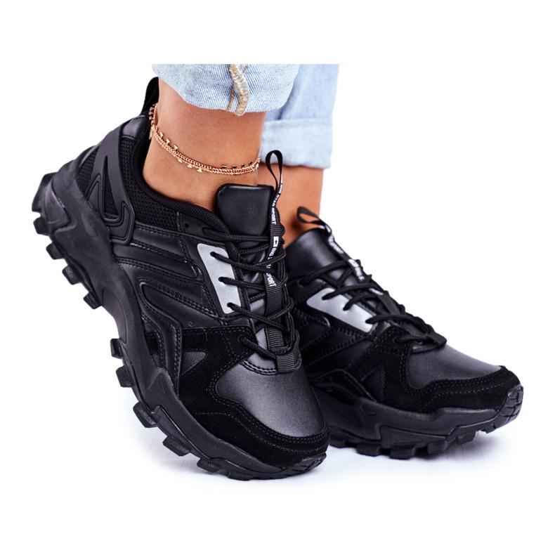 Sportowe Damskie Buty Sneakersy Big Star Czarne GG274981