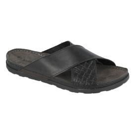 Befado Inblu obuwie męskie 158M002 czarne