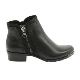 Caprice botki damskie black comb 25403-25 922 czarne