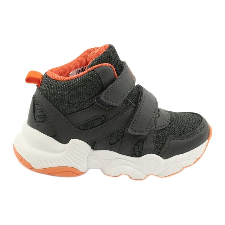 Befado obuwie dziecięce  516X050 pomarańczowe szare
