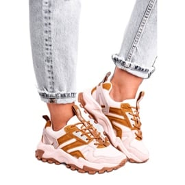 Damskie Sneakersy Big Star Beżowe GG274664 beżowy