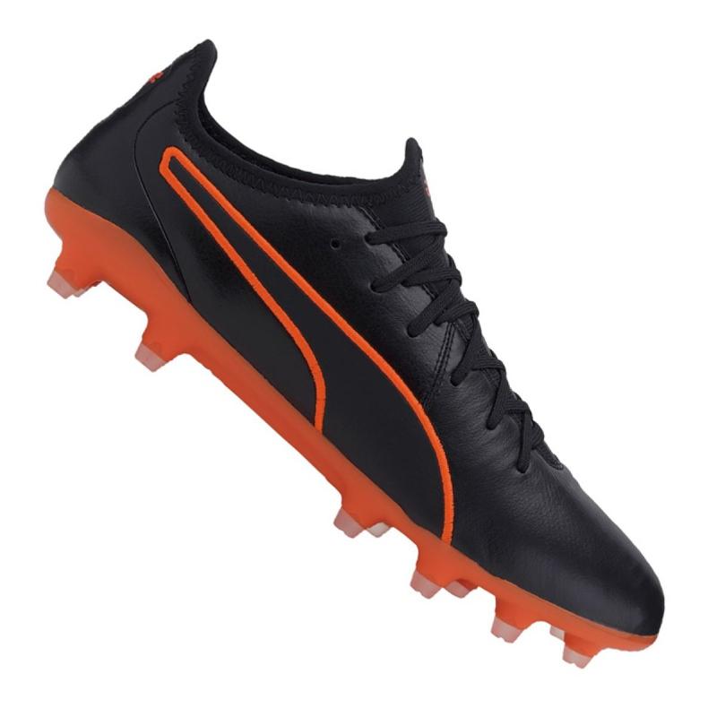Buty piłkarskie Puma King Pro Fg M 105608-06 czarne wielokolorowe