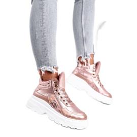 PS1 Sportowe Damskie Buty Ocieplane Różowo Złote Davan różowe złoty