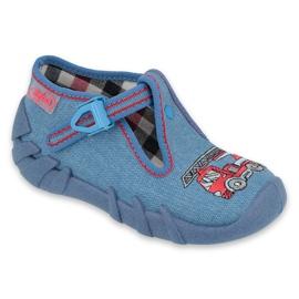 Befado obuwie dziecięce 110P401 czerwone niebieskie