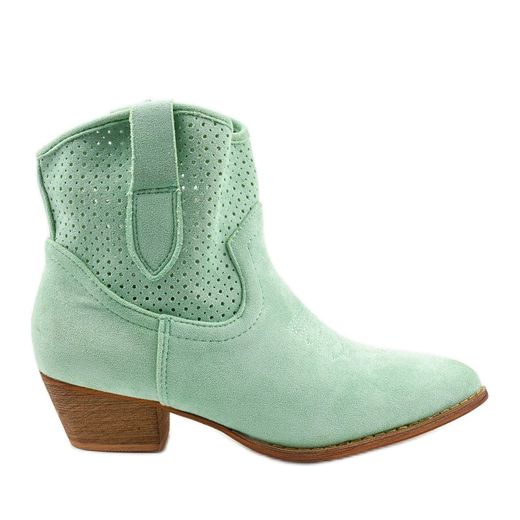 Zielone kowbojki damskie Raithea