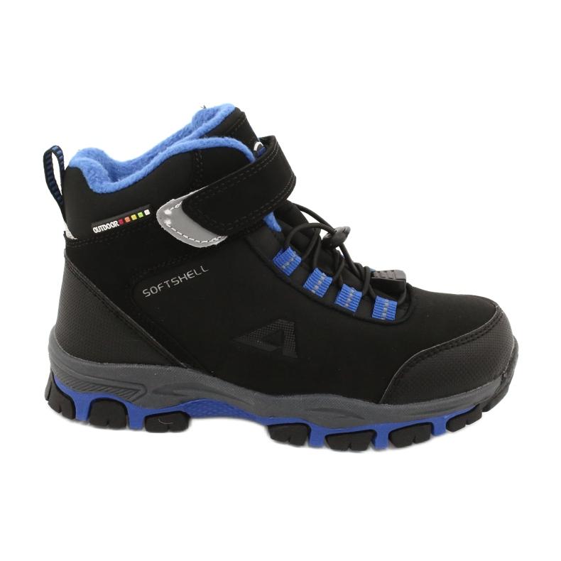 American Club American kozaki Softshell buty wodoodporne z membraną czarne niebieskie