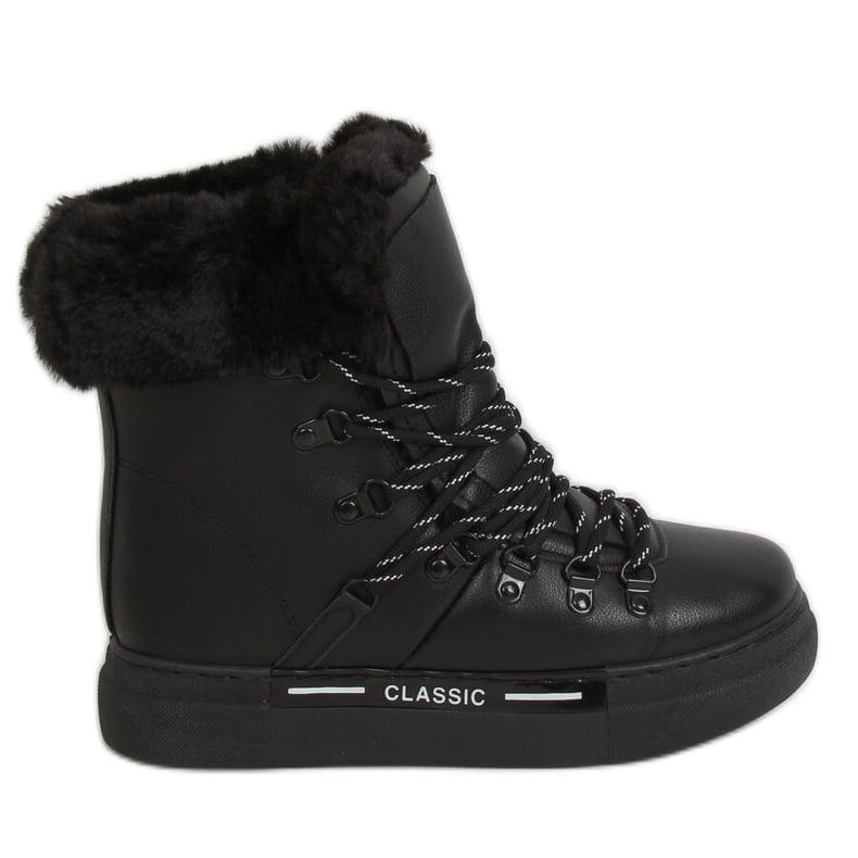 Śniegowce grubo ocieplane czarne BK903 Black