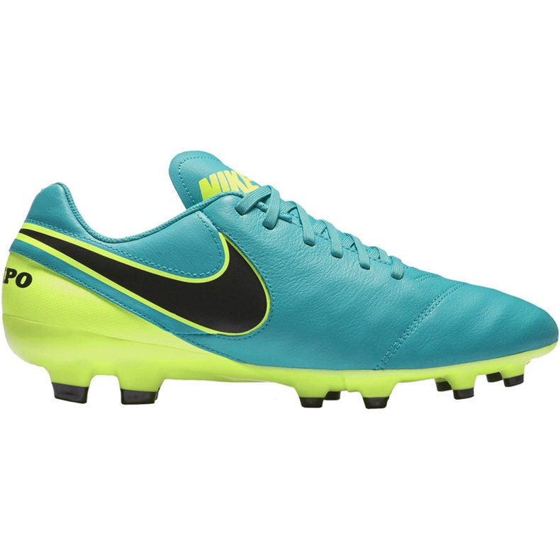 Buty piłkarskie Nike Tiempo Genio Ii Leather Fg 819213 307 niebieskie czarne