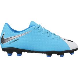 Buty piłkarskie Nike Hypervenom Phade Iii Fg Jr 852580 104 niebieskie niebieskie