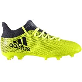 Buty piłkarskie adidas X 17.1 Fg Jr S82297 wielokolorowe zielone
