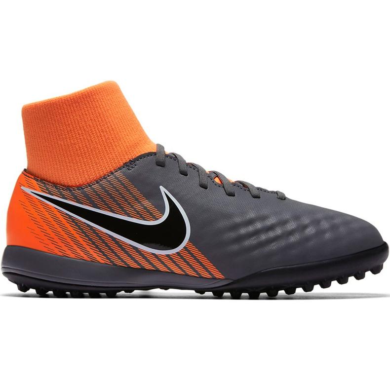 Buty piłkarskie Nike Magista Obra 2 Academy Df Tf Jr AH7318 080 szare wielokolorowe