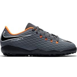Buty piłkarskie Nike Hypervenom Phantom X 3 Academy Tf Jr AH7294 081 szare szare
