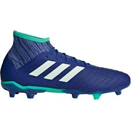 Buty piłkarskie adidas Predator 18.2 Fg CP9293 niebieskie wielokolorowe