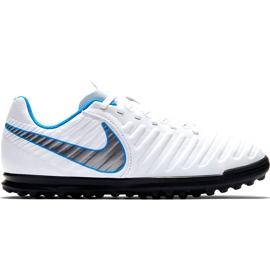 Buty piłkarskie Nike Tiempo Legend 7 Club Tf Jr AH7261 107 białe czarne