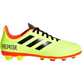 Buty piłkarskie adidas Predator 18.4 FxG Jr DB2321 zielone wielokolorowe