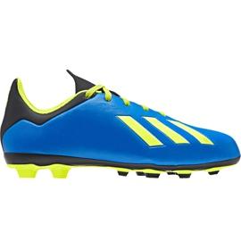 Buty piłkarskie adidas X 18.4 FxG Jr DB2419 niebieskie wielokolorowe