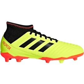 Buty piłkarskie adidas Predator 18.3 Fg Jr DB2319 żółte wielokolorowe