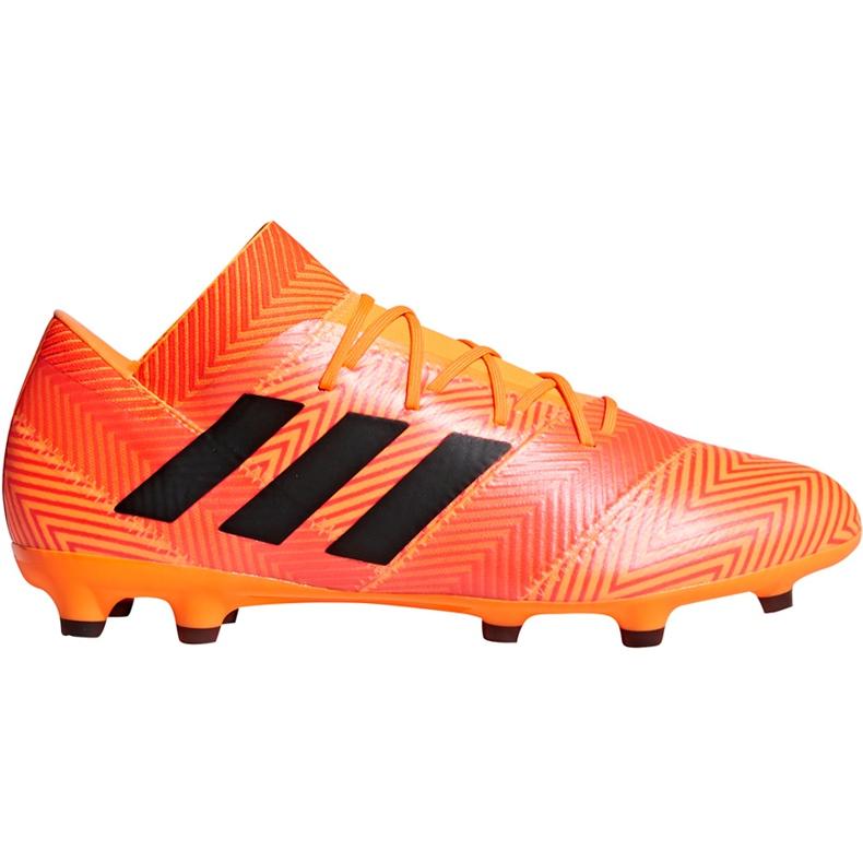 Buty piłkarskie adidas Nemeziz 18.2 Fg DA9580 pomarańczowe wielokolorowe