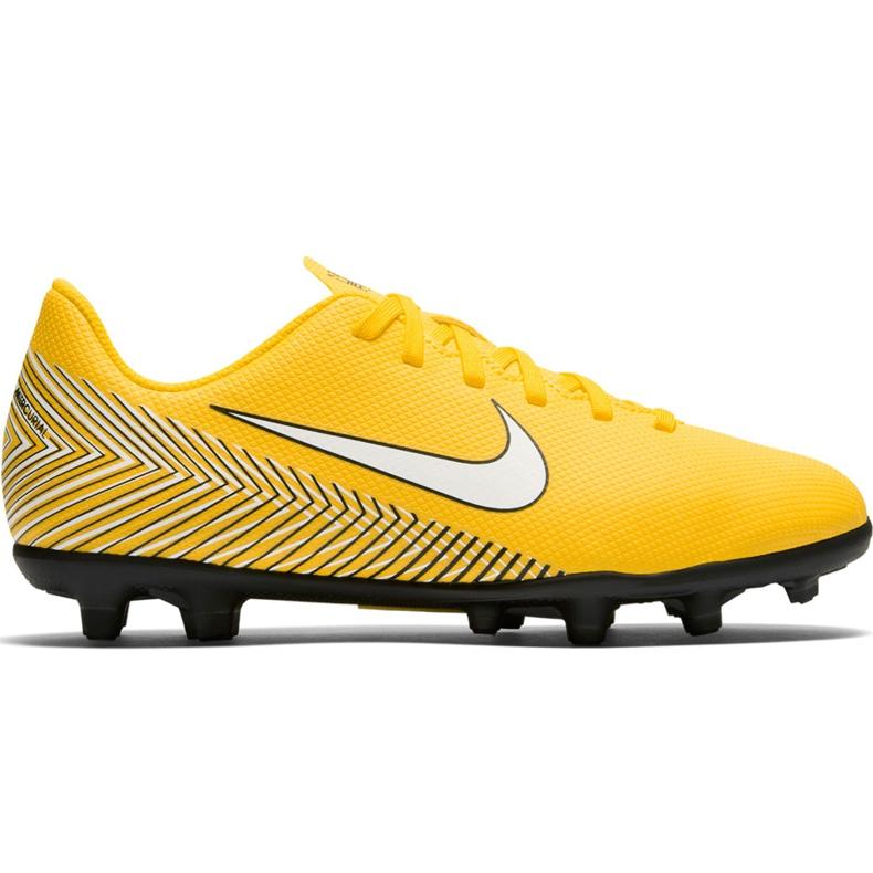 Buty piłkarskie Nike Mercurial Vapor 12 Club Neymar Gs Mg Jr AO9472 710 żółte wielokolorowe