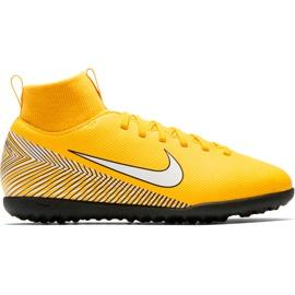 Buty piłkarskie Nike Mercurial Superfly X 6 Club Neymar Tf Jr AO2894 710 żółte wielokolorowe