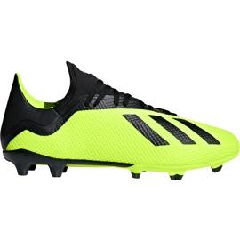 Buty piłkarskie adidas X 18.3 Fg DB2183 żółte żółte