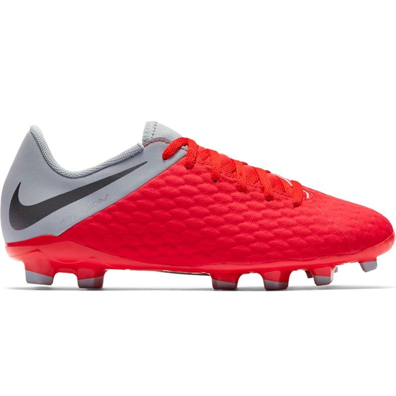 Buty piłkarskie Nike Hypervenom 3 Academy Fg Jr AJ4119 600 czerwone czerwone