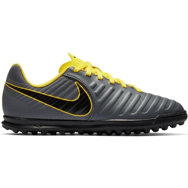 Buty piłkarskie Nike Tiempo Legend 7 Club Tf Jr AH7261 070 szare czarne