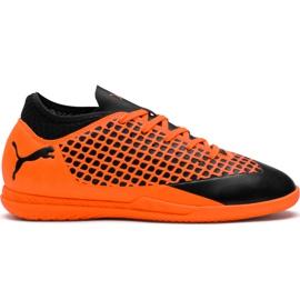 Buty piłkarskie Puma Future 2.4 It Junior czarno-pomarańczowe 104846 02