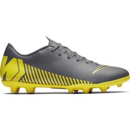 Buty piłkarskie Nike Mercurial Vapor 12 Club Mg AH7378 070 szare szary, żółty