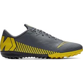 Buty piłkarskie Nike Mercurial Vapor X 12 Academy Tf AH7384 070 szare czarne