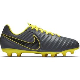 Buty piłkarskie Nike Tiempo Legend 7 Club Mg Jr AO2300 070 szare czarne