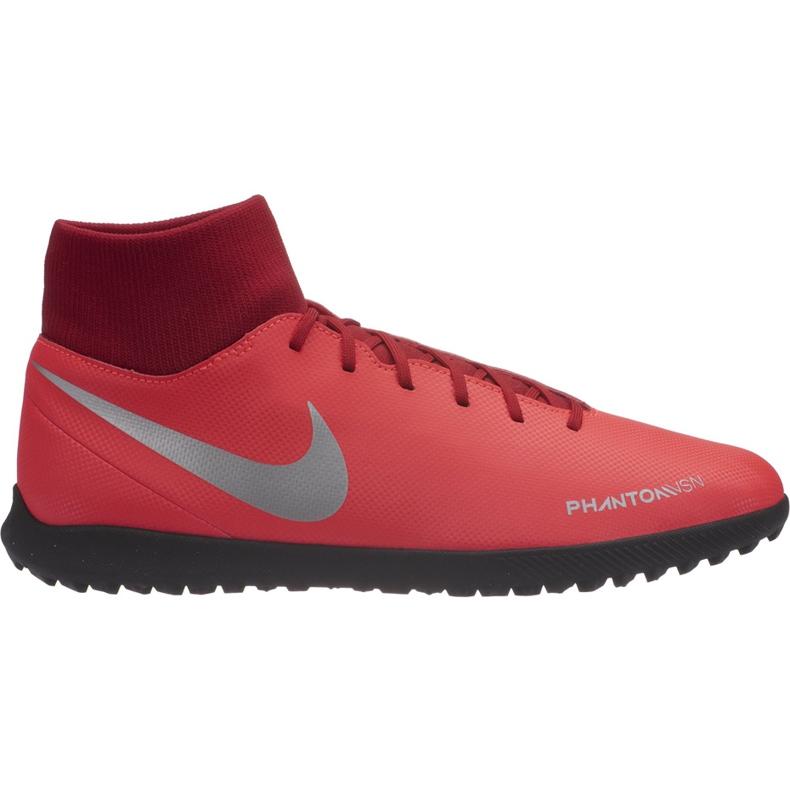 Buty piłkarskie Nike Phantom Vsn Club Df Tf AO3273 600 czerwone wielokolorowe