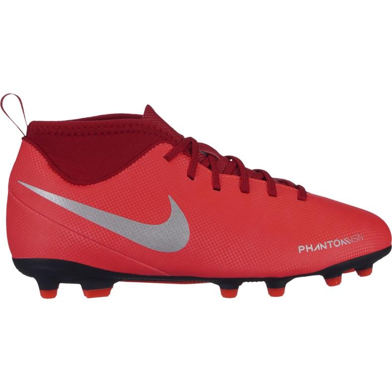 Buty piłkarskie Nike Phantom Vsn Club Df Fg Mg Jr AO3288 600 czerwone wielokolorowe