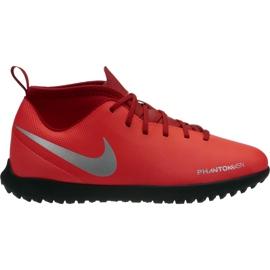 Buty piłkarskie Nike Phantom Vsn Club Df Tf Jr AO3294 600 czerwone wielokolorowe