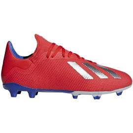 Buty piłkarskie adidas X 18.3 Fg czerwone BB9367 wielokolorowe