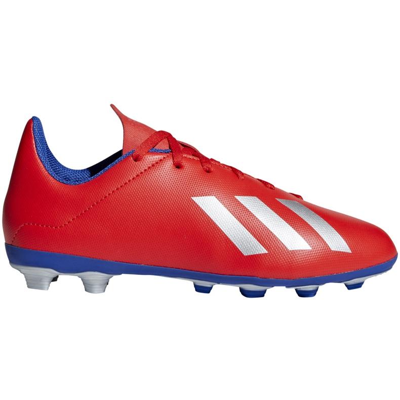 Buty piłkarskie adidas X 18.4 FxG Jr czerwone BB9379 wielokolorowe