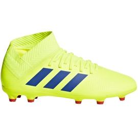 Buty piłkarskie adidas Nemeziz 18.3 Fg Jr żółte CM8505