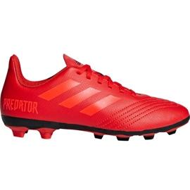 Buty piłkarskie adidas Predator 19.4 FxG Jr CM8541 czerwone wielokolorowe