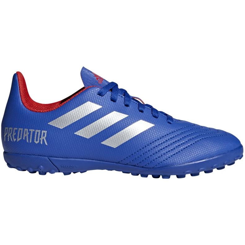 Buty piłkarskie adidas Predator 19.4 Tf Jr niebieskie CM8556 wielokolorowe
